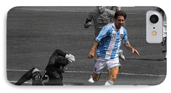 Lionel Messi The King Phone Case by Lee Dos Santos