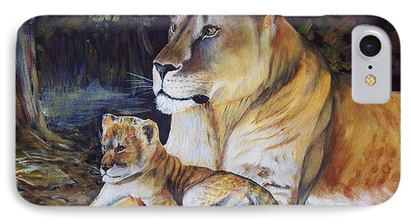 Lioness And Cub IPhone Case by Ruanna Sion Shadd a'Dann'l Yoder