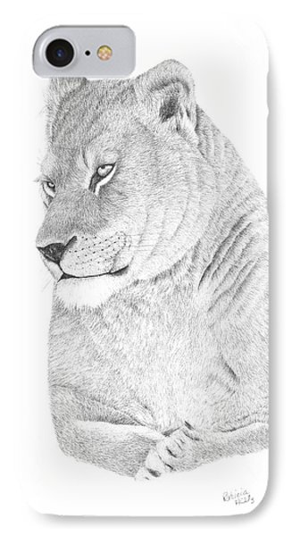 Lioness IPhone Case by Patricia Hiltz