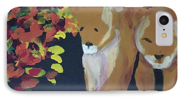 IPhone Case featuring the painting Lioness' Pride 4 Of 6 by Donald J Ryker III
