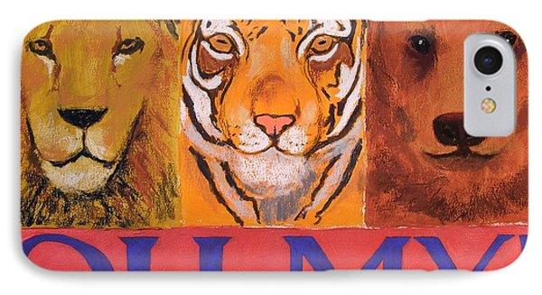 Lions And Tigers And Bears Phone Case by Mary McInnis