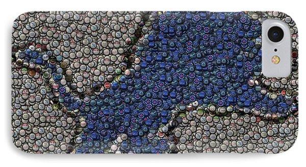Lions Bottle Cap Mosaic Phone Case by Paul Van Scott