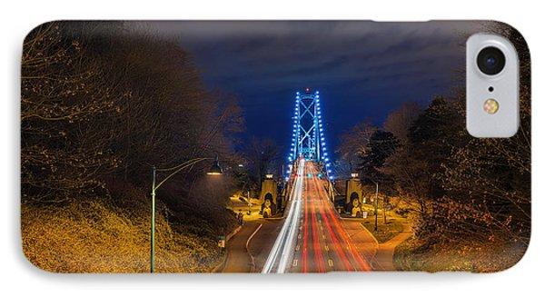 Lions Gate Bridge Light Trails Phone Case by David Gn
