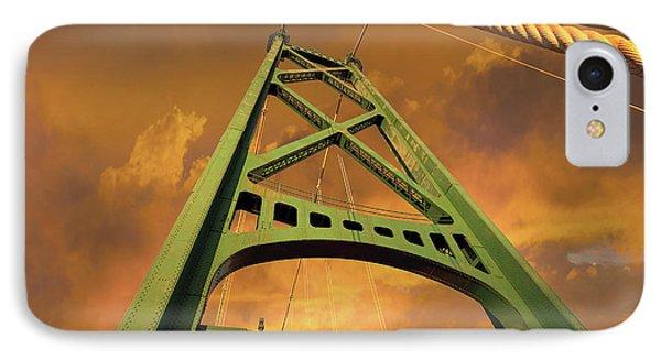 Lions Gate Bridge Tower Phone Case by David Gn