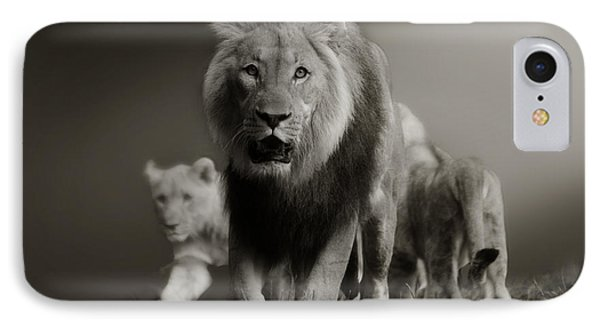 IPhone Case featuring the photograph Lions On Their Way by Christine Sponchia
