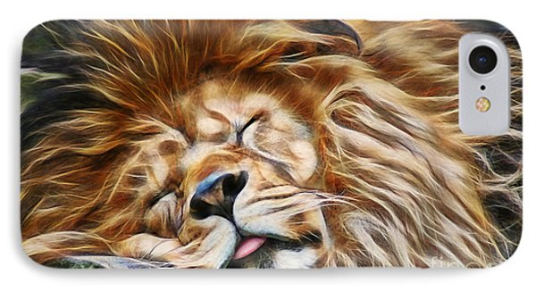 Lionsleeps IPhone Case by Marvin Blaine