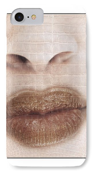 IPhone Case featuring the photograph Lips And Nose. Female by Michael Edwards