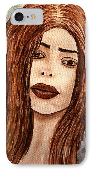 Lips's Lady. IPhone Case by Shlomo Zangilevitch