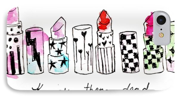 Lipstick Galore IPhone Case by Elizabeth Taylor