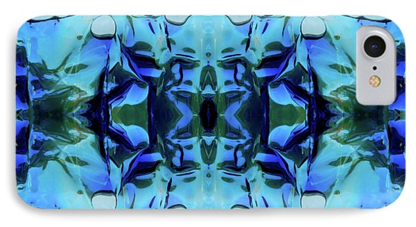 IPhone Case featuring the digital art Liquid Abstract #0059-1 by Barbara Tristan