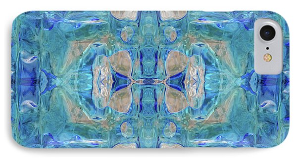 IPhone Case featuring the digital art Liquid Abstract  #0060-1 by Barbara Tristan