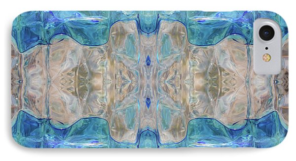 IPhone Case featuring the digital art Liquid Abstract  #0060-2 by Barbara Tristan
