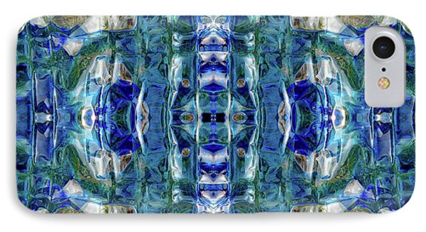 IPhone Case featuring the digital art Liquid Abstract #0061-2 by Barbara Tristan