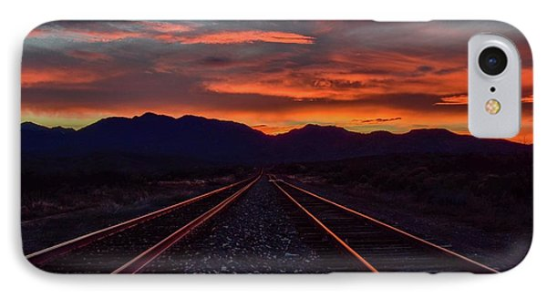 Liquid Copper Flowing Into The Night IPhone Case