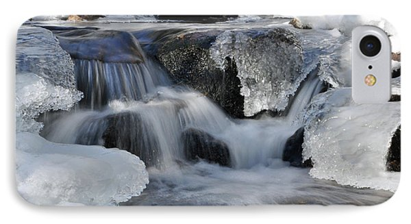 IPhone Case featuring the photograph Winter Waterfall In Maine by Glenn Gordon