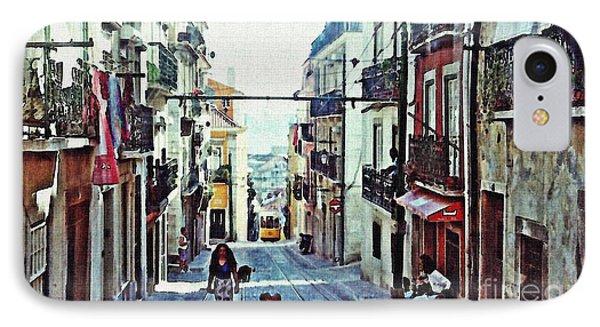 Lisboa Tram Route Phone Case by Sarah Loft