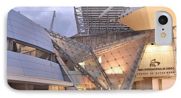 IPhone Case featuring the photograph Lisbon International Fair Building by Marek Stepan
