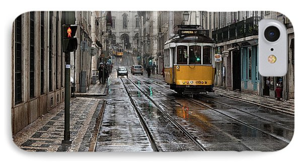 IPhone Case featuring the photograph Lisbon Streets by Jorge Maia