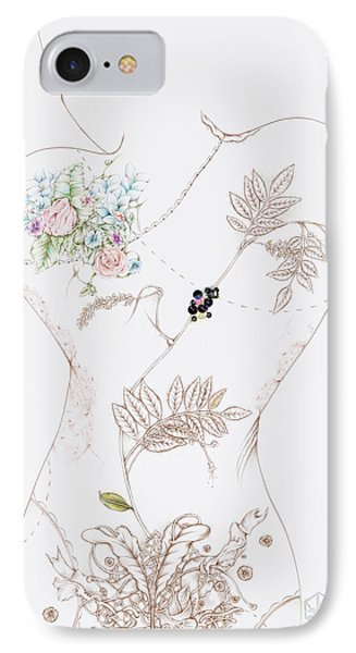 Lisette IPhone Case by Karen Robey