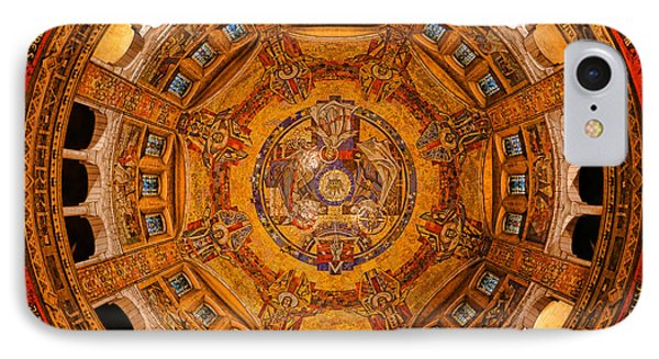 Lisieux St Therese Basilica Dome Ceiling IPhone Case by Olivier Le Queinec