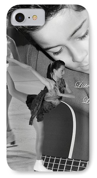Listen Live With Heart  IPhone Case by Cathy  Beharriell