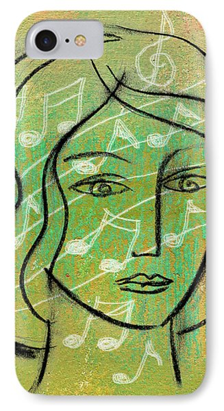 IPhone Case featuring the painting Listening To Music by Leon Zernitsky