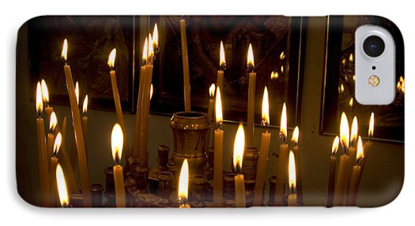 lit Candles in church  Phone Case by Danny Yanai