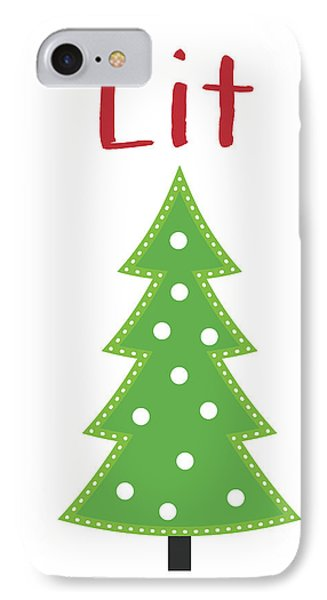 Lit Christmas Tree- Art By Linda Woods IPhone Case by Linda Woods