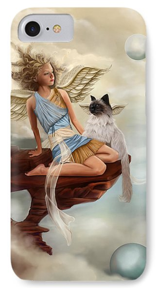 Little Angel IPhone Case by Maggie Terlecki