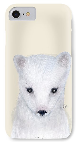 IPhone Case featuring the painting Little Arctic Fox by Bri B