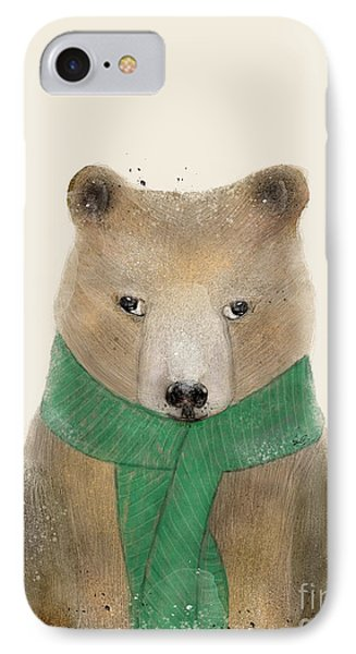 IPhone Case featuring the painting Little Bear Brown by Bri B