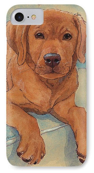 Little Big Red Dog IPhone Case by Tracie Thompson