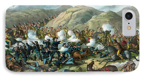 Little Bighorn - Custer's Last Stand IPhone Case by War Is Hell Store