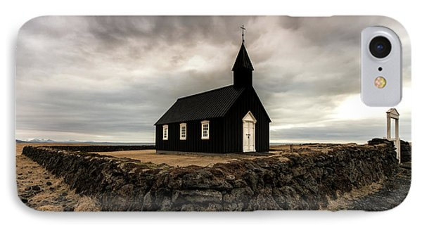 Little Black Church IPhone Case by Larry Marshall