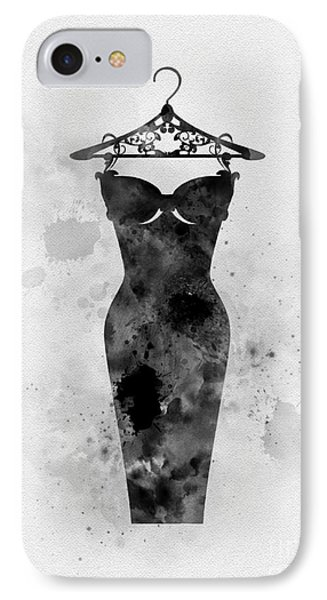 Little Black Dress IPhone Case by Rebecca Jenkins