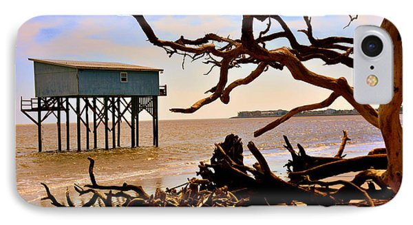 Little Blue Hunting Island State Park Beaufort Sc IPhone Case