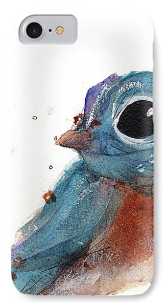 IPhone Case featuring the painting Little Bluebird by Dawn Derman