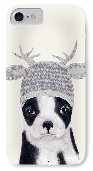 IPhone Case featuring the painting Little Boston Deer by Bri B
