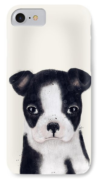 IPhone Case featuring the painting Little Boston Terrier by Bri B