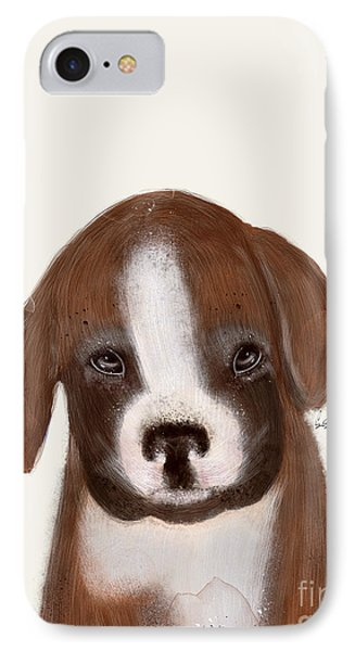 IPhone Case featuring the painting Little Boxer by Bri B