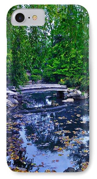 Little Bridge - Japanese Garden Phone Case by Bill Cannon