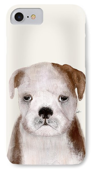 IPhone Case featuring the painting Little Bulldog by Bri B