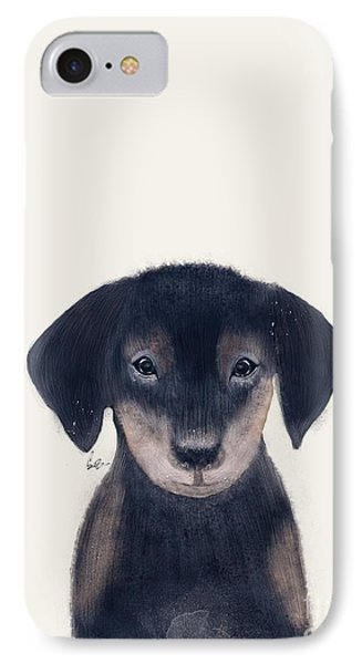 IPhone Case featuring the painting Little Dachshund by Bri B