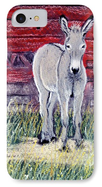 IPhone Case featuring the pastel Little Donkey by Jan Amiss