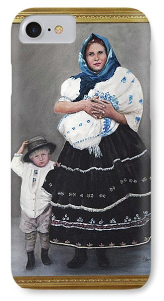 IPhone Case featuring the painting Little Family by Sandra Nardone