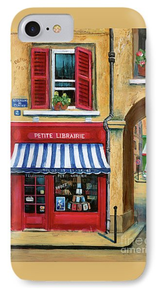 Little French Book Store Phone Case by Marilyn Dunlap