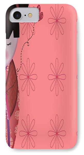 Little Geisha Pink Phone Case by Jannina Ortiz