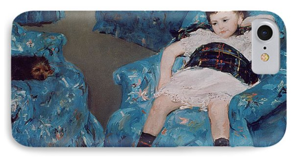 Little Girl In A Blue Armchair IPhone Case by Mary Stevenson Cassatt
