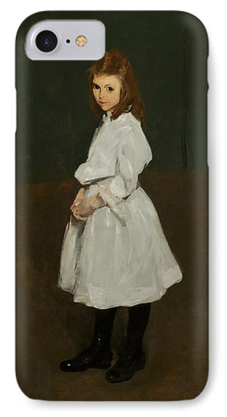 Little Girl In White IPhone Case by George Bellows