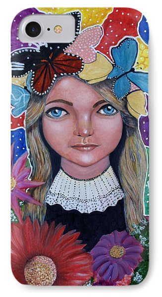 IPhone Case featuring the painting Little Girls Dream by Saranya Haridasan
